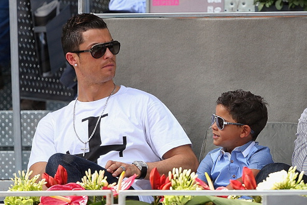 World's best dad?: Ronaldo enjoys time with his son, Cristiano Ronaldo Jr.