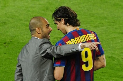 Guardiola clashed with troublesome players such as Zlatan Ibrahimovic.