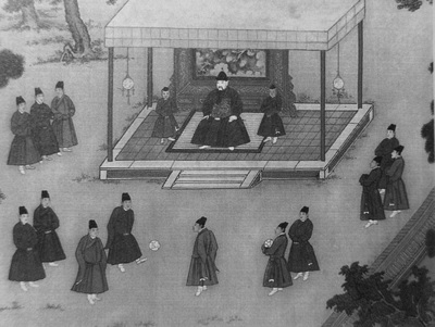 Cuju players were originally trained to provide entertainment to Emperors.