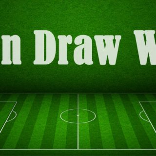 "Football pitch with the words ""win draw win"""