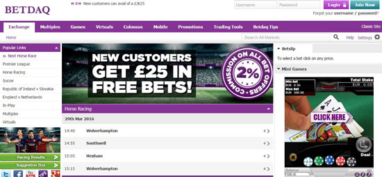 Betdaq Betting Exchange