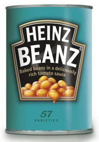 Can of Heinz baked beans.