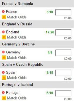 Euro 2016 football acca.