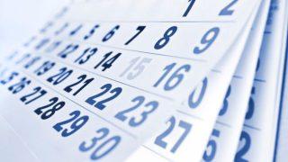 Calendar showing 30 days.