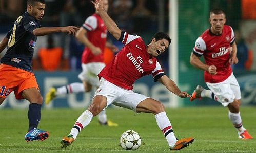 Arsenal failed to find a third goal against Montpellier.
