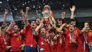Spain  were crowned champions of Europe in both 2008 and 2012.
