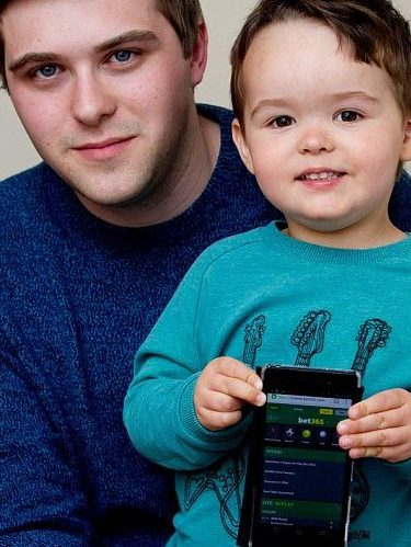 Gary Walter's 3-year-old son cashed-out his potential £50,000 accumulator.