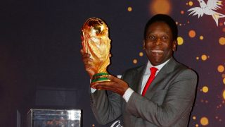 Pelé claimed three World Cup trophies throughout his career.