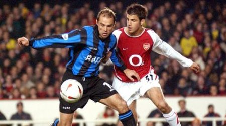Cesc Fabregas makes his Arsenal debut vs Rotherham United back in 2003.