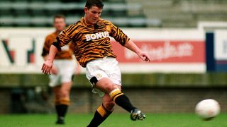 Love it or hate it: Hull City wore this tiger print kit throughout the 1993/94 season.