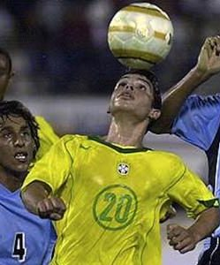 Kerlon performs a seal dribble while playing for Brazil's under-20s side.