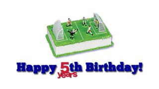 Football themed birthday cake for Goal Profits 5th birthday
