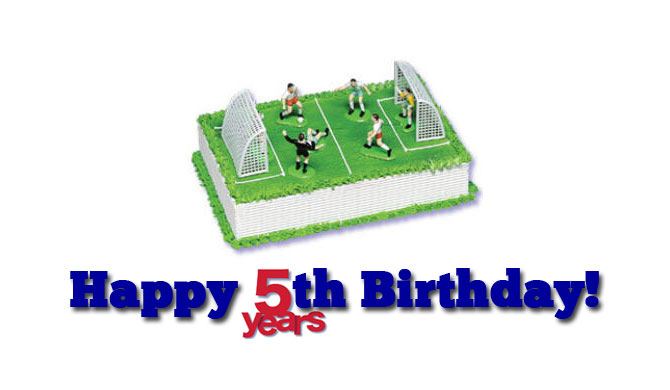 Football themed birthday cake for Goal Profits 5th birthday