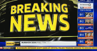 Sky Sports breaking news