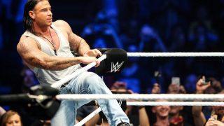 Former footballer Tim Wiese enters the WWE ring.