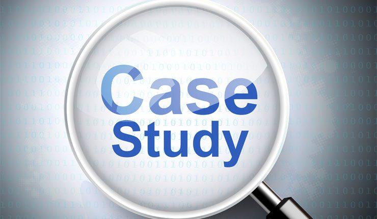 """Magnifying glass with """"case study"""" text"""