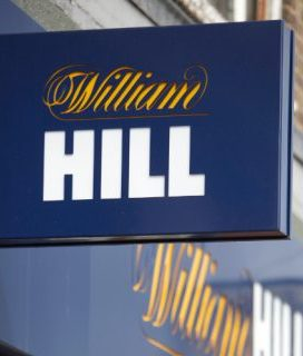 A William Hill betting shop sign.
