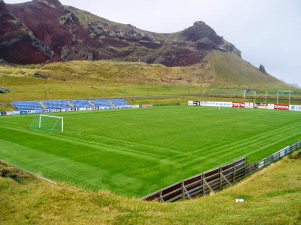 The Hásteinsvöllur Stadium on the Icelandic island of Heimaey.