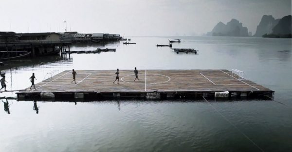The famed floating football pitch in Ko Panyi, Thailand.