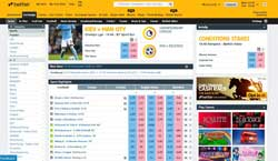 Example of a Betfair screen
